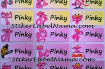 Stiker Label Nama Pink Panther