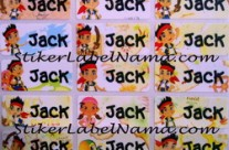 Stiker Nama Jack and The Neverland Pirates