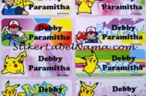 Stiker Label Nama Pokemon