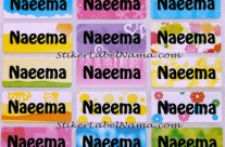 Label Nama Polos Flower