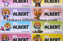 Label Nama Pororo