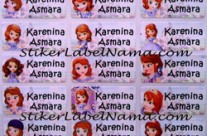 Stiker Label Nama Princess Sofia