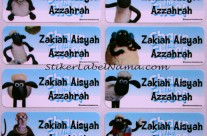 Label Nama Shaun The Sheep
