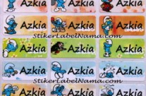 Label Nama Smurf