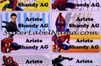 Stiker Nama Spiderman