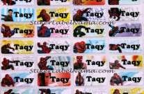 Label Nama Spiderman