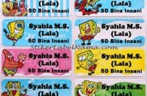 Label Nama Spongebob