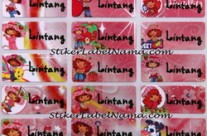 Label Nama Strawberry
