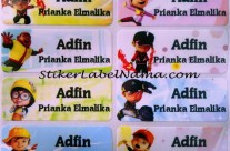 Label Nama Waterproof Boboiboy