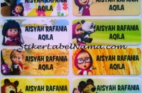 Label Nama Waterproof Masha and The Bear