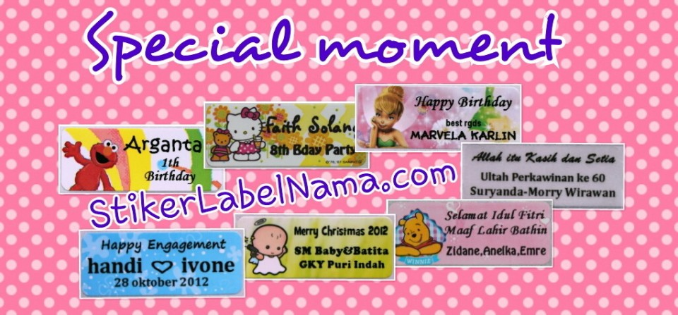 Stiker Label Nama