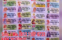 Sticker Label Nama Aikatsu