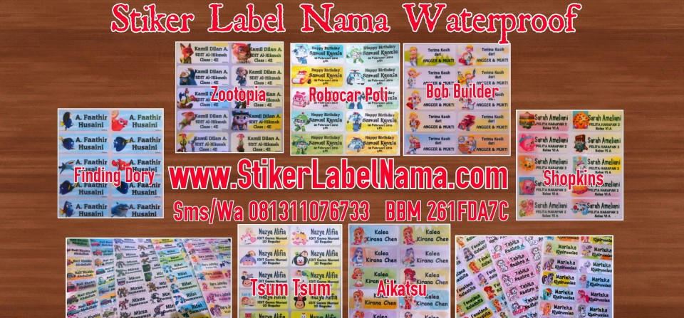 Sticker-Nama-Waterproof