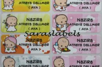 Stiker Label Nama Angel