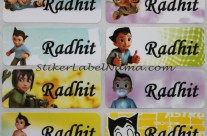 Stiker Label Nama Astro Boy