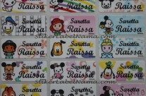 Stiker Label Nama Baby Disney