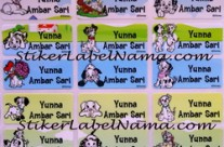 Stiker Label Nama Dalmation