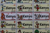 Stiker Label Nama Disney