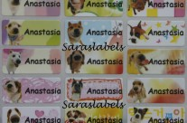 Stiker Label Nama Dog