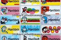 Stiker Label Nama Doraemon