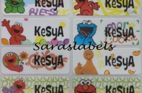 Stiker Label Nama Elmo