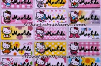 Stiker Label Nama Hello Kitty