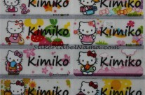 Stiker Label Nama Kitty Transparan