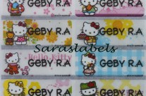 Stiker Label Nama Kitty Transparant
