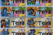 Stiker Label Nama Lilo n Stich