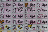 Stiker Label Nama Marie Cat