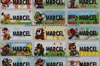 Stiker Label Nama Mario Bross
