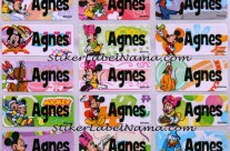 Stiker Label Nama Mickey