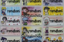 Stiker Label Nama Naruto Kid