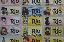 Stiker Label Nama Naruto Kids