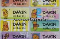 Stiker Label Nama Winne The Pooh
