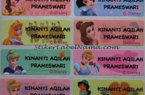 Stiker Label Nama Princess