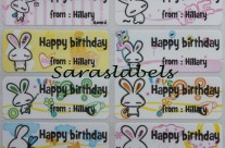 Stiker Label Nama Rabbit