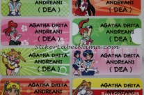 Stiker Label Nama Sailormoon