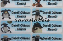 Stiker Label Nama Shaun The Sheep