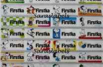 Stiker Label Nama Snoopy