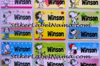 Label Nama Snoopy