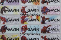 Stiker Label Nama Spiderman