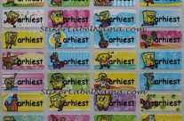 Stiker Label Nama Spongebob