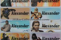Stiker Label Nama Starwars
