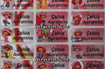 Stiker Label Nama Strawberry