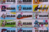 Stiker Label Nama Superhero