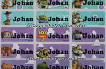 Stiker label Nama Toy Story