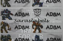 Stiker Label Nama Transformer