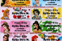 Jual Label Nama Princess Disney