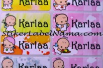 Stiker Nama Angel